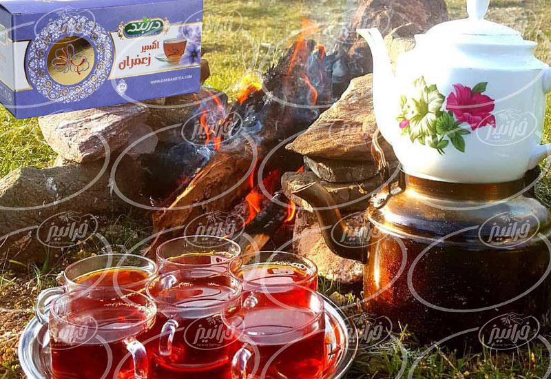 محل اصلی پخش چای زعفرانی جهان