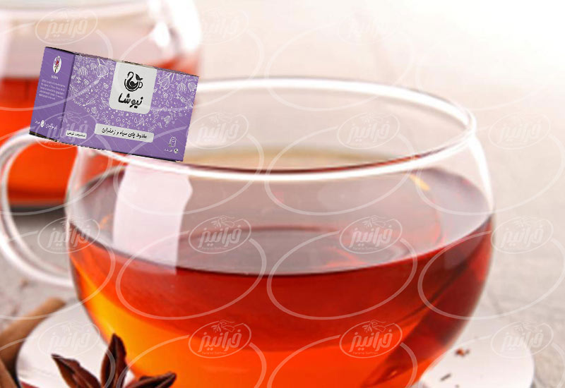 توسعه فروش چای زعفران نیوشا در جهان